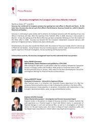 PR press release canada - Accuracy