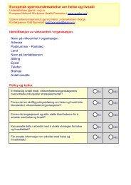 Europeisk spørreundersøkelse om helse og livsstil