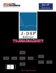 Java - Digital Signal Processing - jdsp - Arizona State University