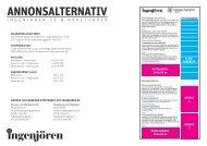 Prislista och annonseringsalternativ till ingenjoren.se ... - Ingenjören