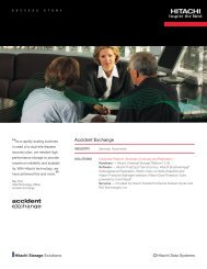 Accident Exchange Ensures Failsafe Growth ... - Hitachi Data Systems