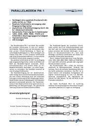 PARALLELMODEM PM-1 - Hedin Tex GmbH