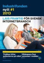 Ladda hem Industrifonden Nytt nummer 1, 2013
