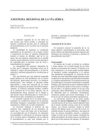 ANESTESIA REGIONAL DE LA VÍA AÉREA - Sociedad de ...