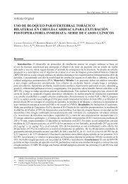 Uso de BloqUeo ParaverteBral torácico Bilateral en cirUgía cardiaca ...