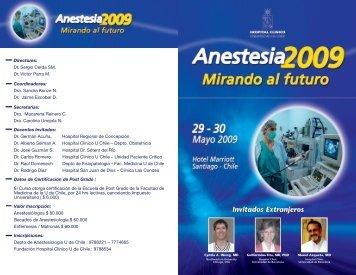 programaanestesia200.. - Sociedad de Anestesiología de Chile