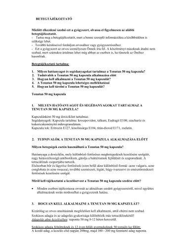 Betegtájékoztató - PannonPharma Kft.