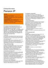 Pension IP - Sparbanken i Karlshamn