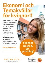 Skönhet Resor & Vin- provning! - Sparbanken i Karlshamn