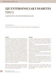 EJE ENTEROINSULAR Y DIABETES TIPO 2 - Clínica Las Condes