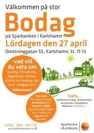 Lördagen den 27 april - Sparbanken i Karlshamn