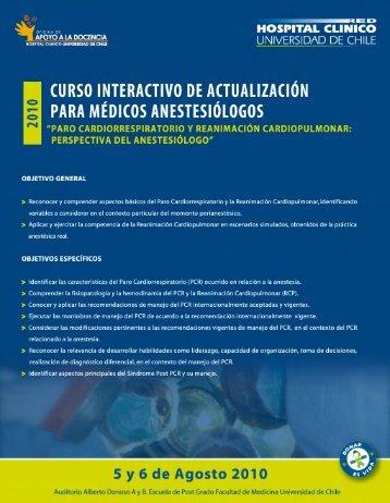 curso_anestesia_2010.. - Sociedad de Anestesiología de Chile