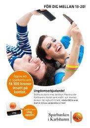 Ungdomserbjudande - Sparbanken i Karlshamn