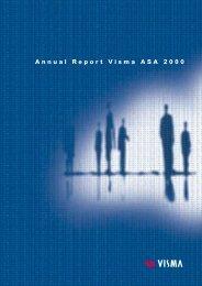 Annual Report Visma ASA 2000