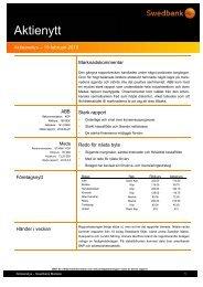 Aktienytt vecka 8 2010 - Sparbanken i Karlshamn