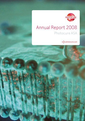 Annual Report 2008 - Photocure