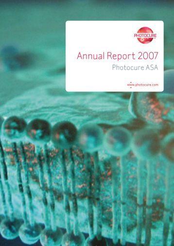 Annual Report 2007 - Photocure