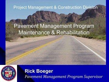 Pavement Management Program Maintenance & Rehabilitation