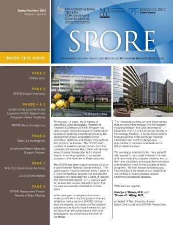 SPORE Newsletter-Current Issue - University of Iowa Hospitals and ...