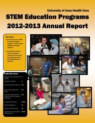 STEM Annual Report 2012 - University of Iowa Hospitals and Clinics