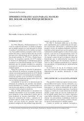 Opioides Intratecales para el Manejo del Dolor Agudo Postquirúrgico
