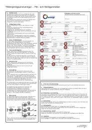 Tillämpningsanvisningar – För- och färdiganmälan - Sollentuna Energi