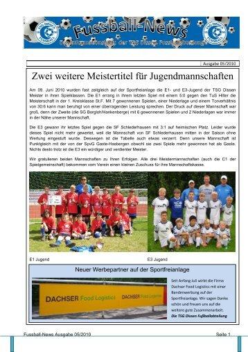 Ausgabe 5 - Fussballabteilung TSG Dissen