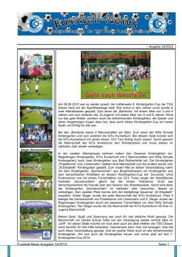 Ausgabe 14 - Fussballabteilung TSG Dissen