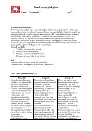 Lokal pedagogisk plan