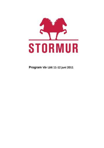 Program Vår Lä 11-‐12 juni 2011 - Stormur