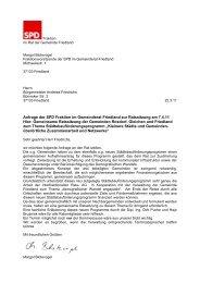 Anfrage der SPD Fraktion im Gemeinderat Friedland zur Ratssitzung ...