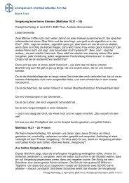 Vergebung kennt keine Grenzen - EMK Thun / Heiligenschwendi