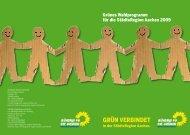 Fortsetzung - Die Grünen in der Städteregion Aachen