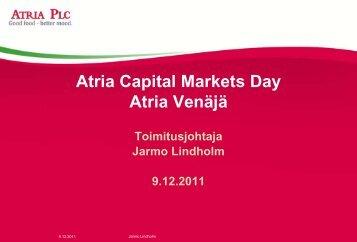 Jarmo Lindholm / Atria Venäjä - Atriagroup.com