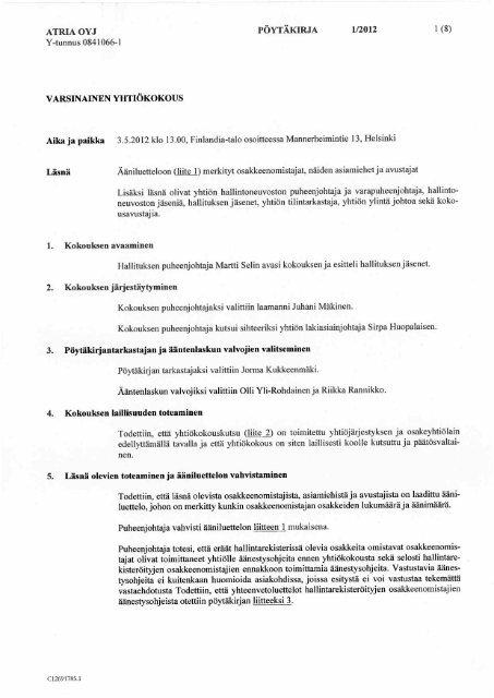 7. Asioiden käsittely ja päätöksenteko hallituksessa