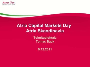Tomas Back / Atria Skandinavia - Atriagroup.com