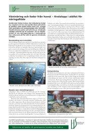 Växtnäring och foder från havet – Kretslopp i stället för näringsflöde