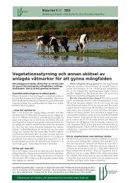 Vegetationsstyrning och annan skötsel av anlagda våtmarker för att ...
