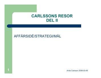 CARLSSONS RESOR DEL II