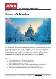 Silvester in St. Petersburg - Kira Travel