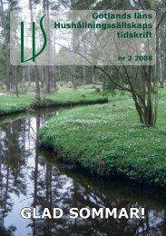 tidskrift nr 2 2008 GG.indd - Hushållningssällskapet Gotland