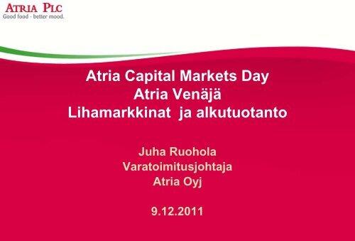 Atria company presentation - Atriagroup.com