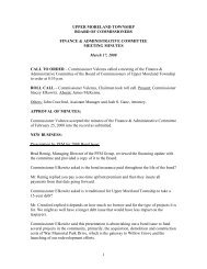 Finance & Administration Committee Meeting Minutes - Upper ...