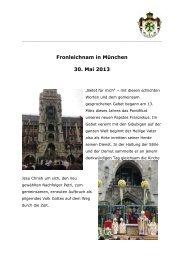 Fronleichnam in München 30. Mai 2013 - Lazarusorden.org