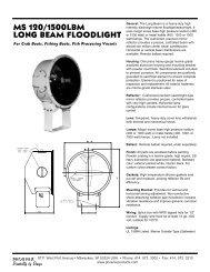 ms 120/1500lbm long beam floodlight - Phoenix Products