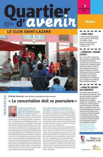 N°3 SEP 2007 - Le Clos Saint-Lazare - Ville de Stains