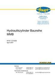 Hydraulikzylinder Baureihe MMB - Steffen Haupt - Hydraulik und ...