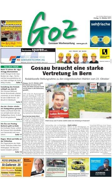 Gossau braucht eine starke Vertretung in Bern - GoZ