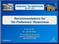 'No preference' responses