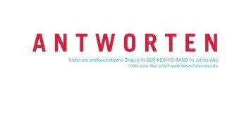 DRR Werbezettel2011.indd - Der Rechte Rand
